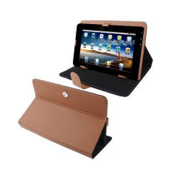 Housse universelle tablette tactile 9 pouces support étui Marron - www.yonis-shop.com