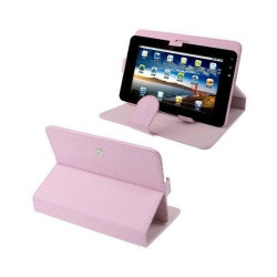 Housse universelle tablette tactile 9 pouces support 360° étui Rose - www.yonis-shop.com