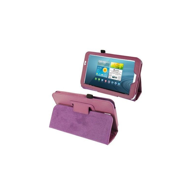 Housse samsung galaxy tab 3 gt p3200 tui 7 pouces cuir violet for Housse tablette samsung