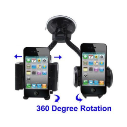 Double support universel voiture iPhone Smartphone GPS MP4 Holder - www.yonis-shop.com