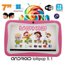 Tablette tactile enfant YOKID quad core 7 pouces Android 5.1 Rose 16Go - www.yonis-shop.com