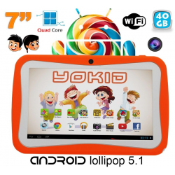 Tablette tactile enfant YOKID 7 pouces quad core Android 5.1 Orange 40Go - www.yonis-shop.com
