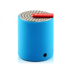Mini enceinte bluetooth universelle smartphone tablette Bleu