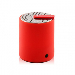 Mini enceinte bluetooth universelle smartphone tablette Rouge