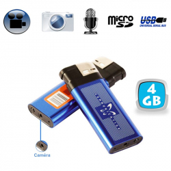 Briquet camera espion appareil photo enregistrement sonore USB 4 Go - www.yonis-shop.com