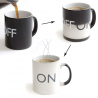Tasse changeant de couleur mug thermoréactif On / Off noir et blanc - www.yonis-shop.com