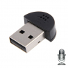 Mini microphone USB 2.0 PC portable Mac tablette sans fil noir - www.yonis-shop.com