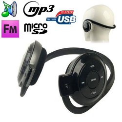 Casque sport lecteur audio MP3 sans fil Radio FM Running Micro SD - www.yonis-shop.com