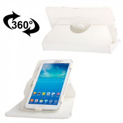 Housse universelle 7 pouces support tablette tactile étui 360° Blanc