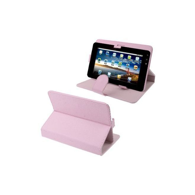 Housse universelle tablette tactile 7 pouces support étui Chic Rose - www.yonis-shop.com