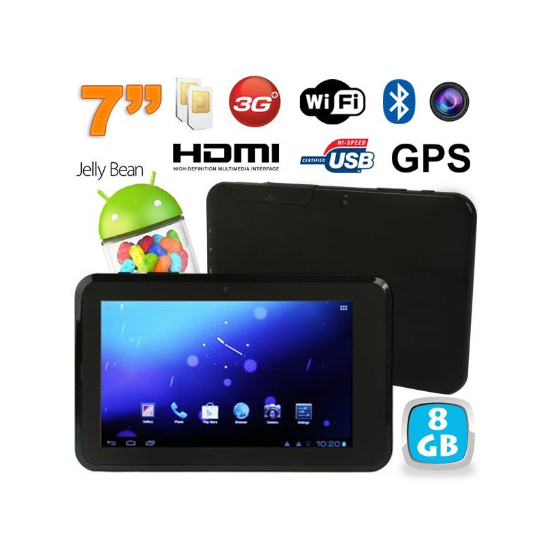 Tablette tactile 7 pouces 3g wifi bluetooth gps dual sim - Tablette tactile 7 pouce ...