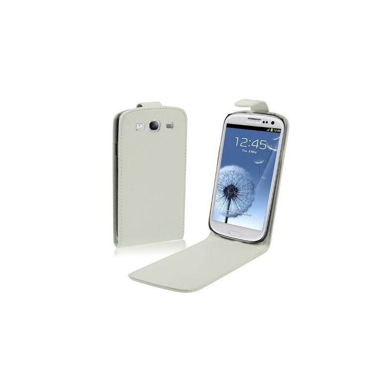 housse samsung galaxy s3 i9300 cuir blanc 4 8 pouces