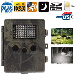 Caméra chasse gibier GSM Full HD 1080P infrarouge détection mouvement - www.yonis-shop.com