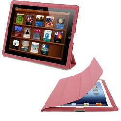 Smart cover iPad 2 intégrale support housse rose 9.7 pouces