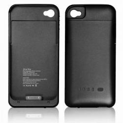 Batterie coque iPhone 4 4S 1900 mah noir