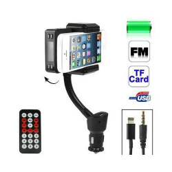 Transmetteur FM iPhone 5 kit mains libres support voiture Micro SD