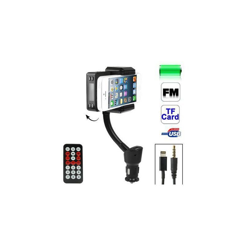 transmetteur fm iphone 5 kit mains libres support voiture micro sd. Black Bedroom Furniture Sets. Home Design Ideas