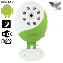Caméra WIFI Babycam vision nocturne Android iPhone support Vert - www.yonis-shop.com