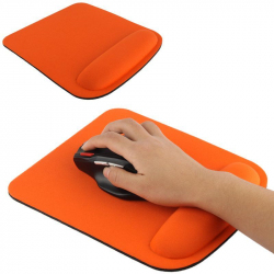 Tapis de souris ergonomique repose poignet ultra fin orange - www.yonis-shop.com
