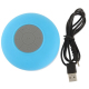 Mini enceinte Bluetooth ronde kit main libre ventouse waterproof bleu - www.yonis-shop.com