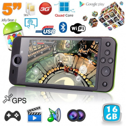 Mini console portable 3G quad core 5 pouces gamepad Android 4.2 16Go