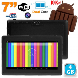 Tablette tactile Android 4.4 KitKat 7 pouces Dual Core 4Go Noir