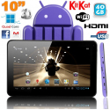 Tablette tactile 10 pouces Android 4.4 KitKat Quad Core 40 Go Violet - www.yonis-shop.com