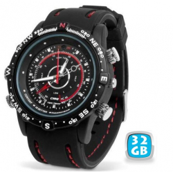 Montre camera espion mini appareil photo waterproof 32 Go