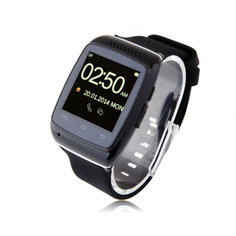 montre connect e android smartwatch bluetooth tactile 1 5. Black Bedroom Furniture Sets. Home Design Ideas