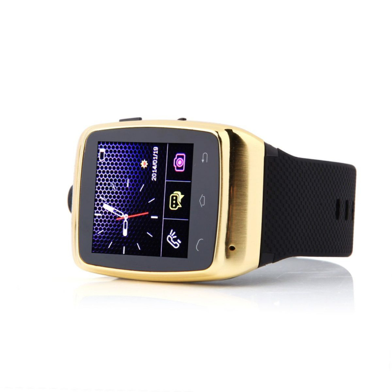 smartwatch bluetooth montre connect e android camera 2mp 1 5 pouces or. Black Bedroom Furniture Sets. Home Design Ideas