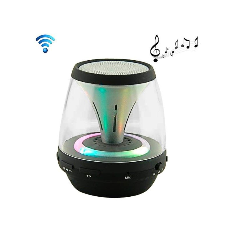 enceinte portable sans fil bluetooth led lumineuse kit main libre noir. Black Bedroom Furniture Sets. Home Design Ideas