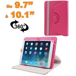 Housse universelle tablette 9.7 - 10.1 pouces support 360° Rose