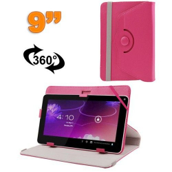 Housse universelle tablette 9 pouces protection support 360° Magenta