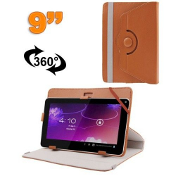 Housse universelle tablette 9 pouces protection support 360° Marron
