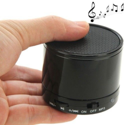 Mini Enceinte Bluetooth universelle smartphone kit mains-libres Noir