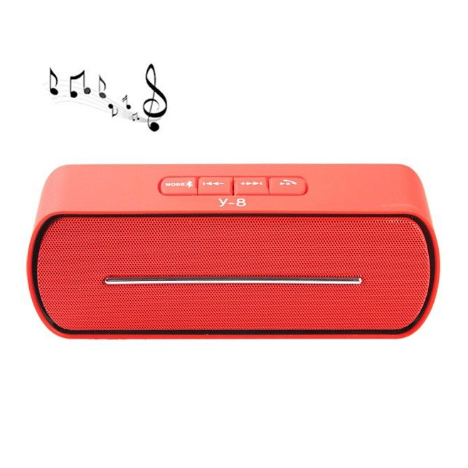 Enceinte sans fil Bluetooth kit main libre FM Micro SD USB Rouge