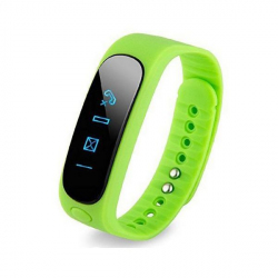 Bracelet intelligent Bluetooth sport montre connectée podomètre Vert