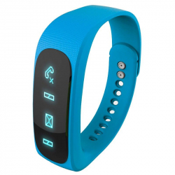 Bracelet intelligent Bluetooth sport montre connectée podomètre Bleu