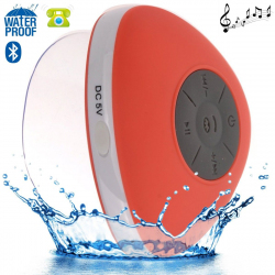 Mini enceinte Bluetooth triangle main libre ventouse waterproof rouge