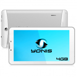 Tablette 3G 7 pouces GPS OTG Android 4.4 Double SIM 4Go Blanc