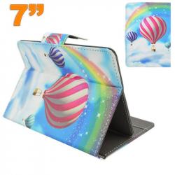 Housse universelle tablette 7 pouces support montgolfière multicolore - www.yonis-shop.com