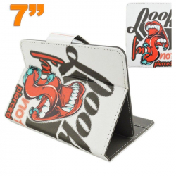 Housse universelle tablette 7 pouces support design rock and roll