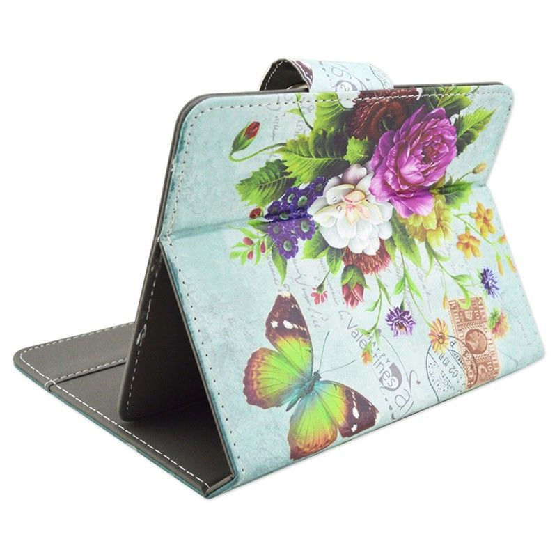 Housse universelle tablette 10 pouces tui support fleur for Housse universelle