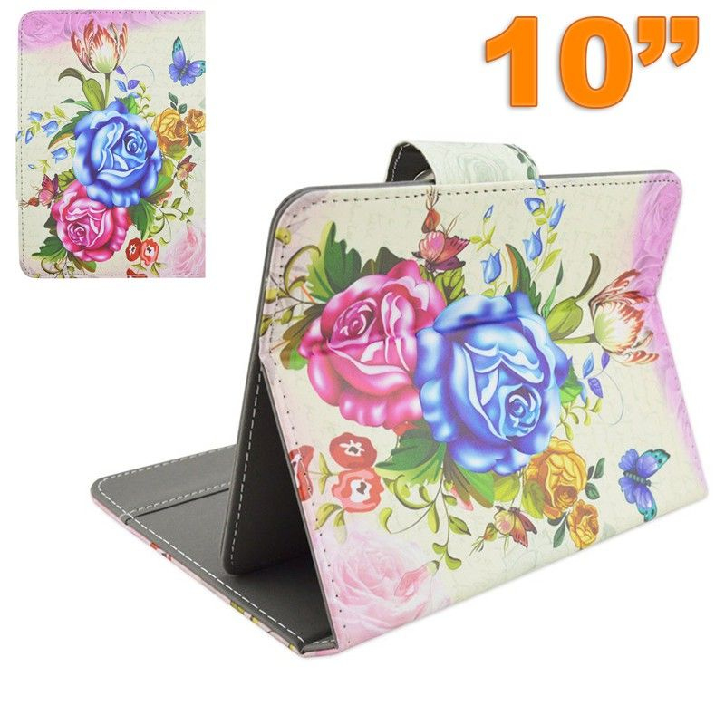 Housse tablette tactile 10 pouces universelle ajustable floral for Housse universelle tablette 10 pouces