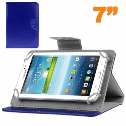Housse universelle tablette tactile 7 pouces support ajustable Bleu