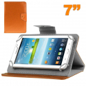 Housse universelle tablette tactile 7 pouces support ajustable orange