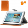 Housse universelle tablette 9 pouces support étui ajustable Orange - www.yonis-shop.com