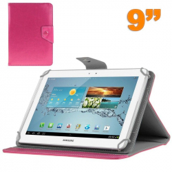 Housse universelle tablette 9 pouces support étui ajustable Rose