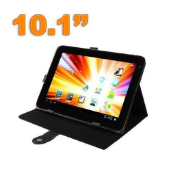 Housse tablette 10.1 pouces protection universelle simili cuir Noir - www.yonis-shop.com