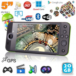 Mini console portable 3G quad core 5 pouces gamepad Android 4.2 32Go - www.yonis-shop.com